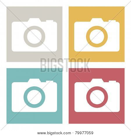 Digital Camera Images Media Photo Album Vector Concept