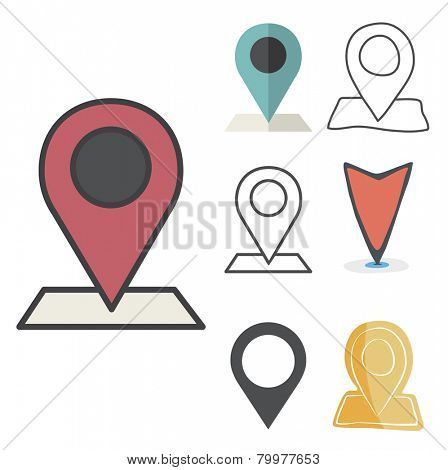 Check in Location Direction Place Icon Vector Concept