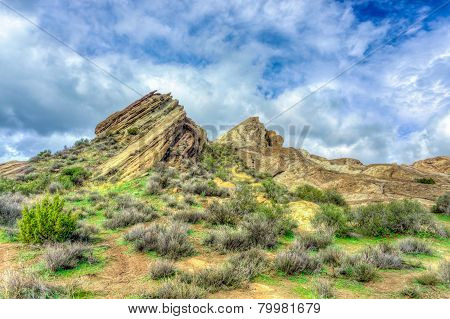 Vasquez Rocks Natural Area Park After The Rain
