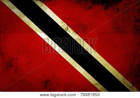 Grunge Trinidad and Tobago Flag.