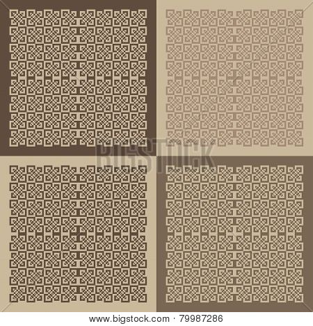 Vector Set Of Patterned Blocks