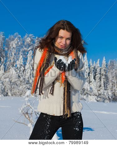 A Girl in Russian Winter