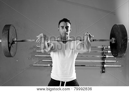 Man On A Weightlifting Session - Workout.