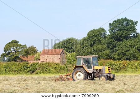 Hay Turning In Summer