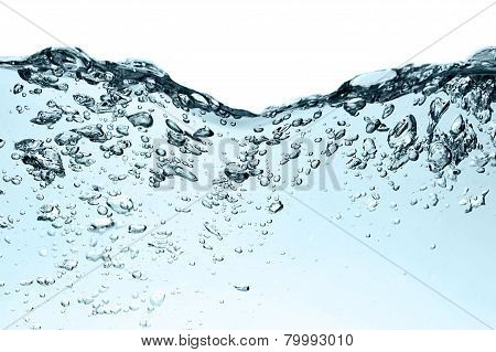 Bubbles In Water Close Up