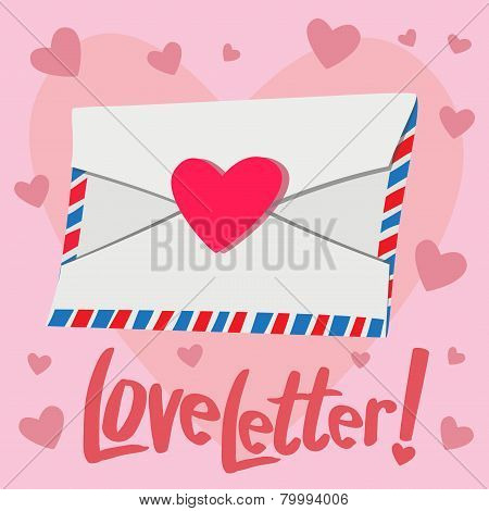 Love Letter With Heart Background