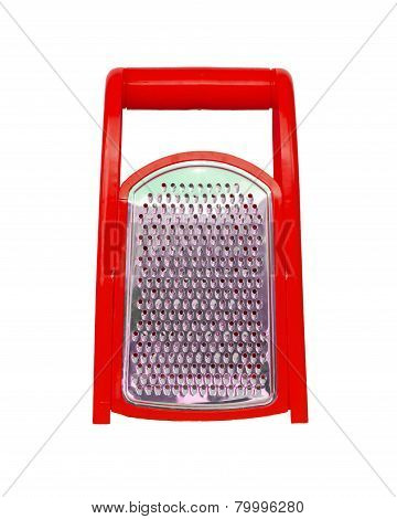 Red Plastic Grater