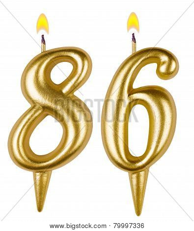 Birthday Candles Number Eighty Six