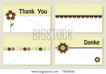 Set of four Thank You cards