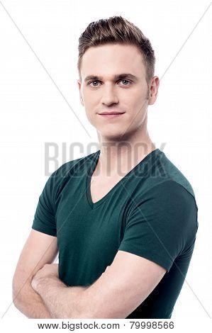 Confident Man Looking At Camera
