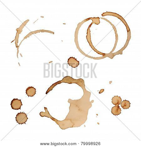 Vector Coffee Stain Rings Set 3