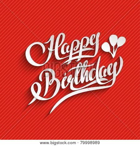 Happy Birthday Lettering Greeting Card
