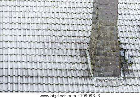 Roof Covered With Rime, Frost