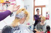 stock photo of hair dye  - Hairdresser salon - JPG