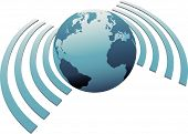 Wireless World Wifi Earth Broadband Symbol.eps
