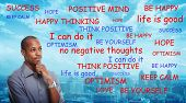 stock photo of black american  - Positive thinking African - JPG