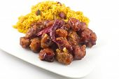 stock photo of chinese food  - hot and spicy General Tso - JPG