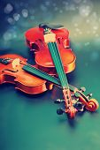pic of violin  - Classic music violin vintage close up - JPG