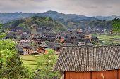 stock photo of paysage  - Sanjiang Guangxi Province China  - JPG