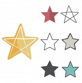 image of reach the stars  - Star Shape Success Superstar Victory Winning Vector Concept  - JPG