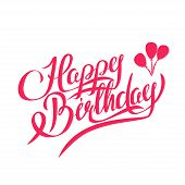 picture of calligraphy  - Happy Birthday Vector Lettering  - JPG