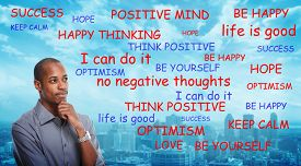 picture of think positive  - Positive thinking African - JPG