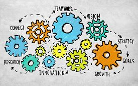 picture of coworkers  - Team Teamwork Goals Strategy Vision Business Support Concept - JPG