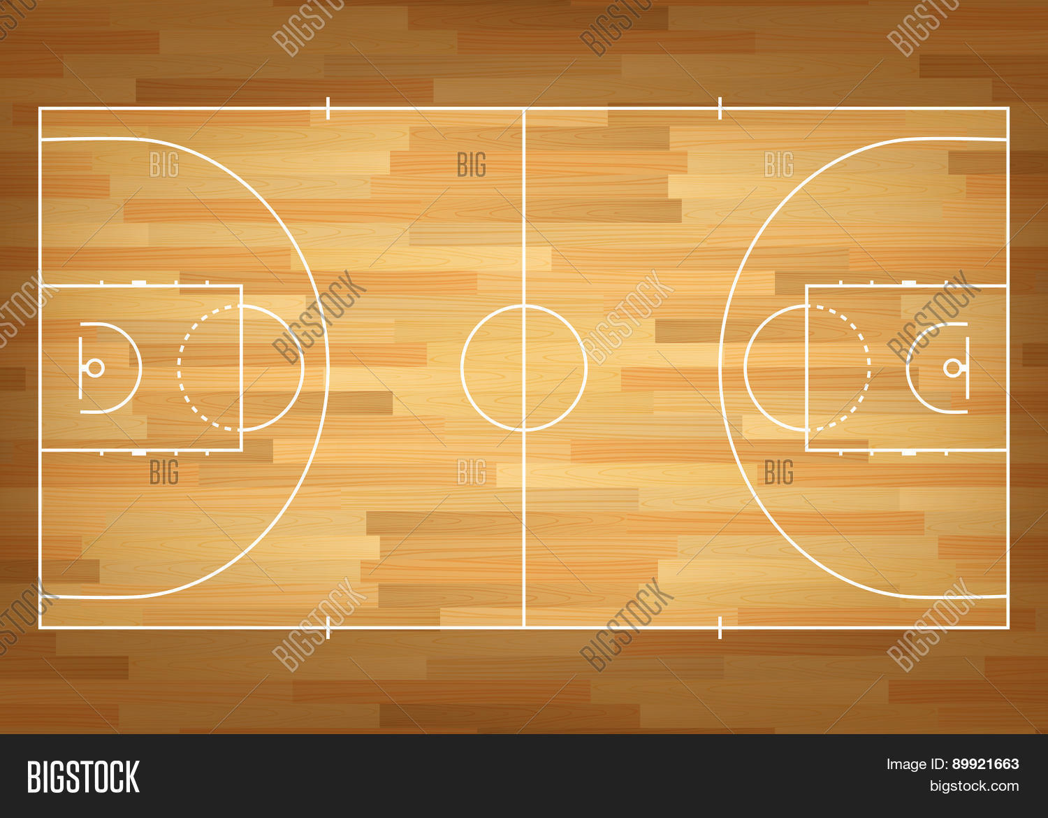Basketball court on top stock vector stock photos for How big is a basketball court