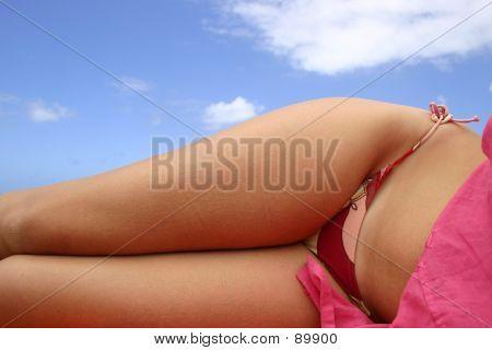 Chica para tomar el sol