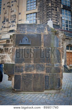 Dresden Germany. part of the wall