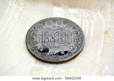 Vintage turkish or ottoman coin