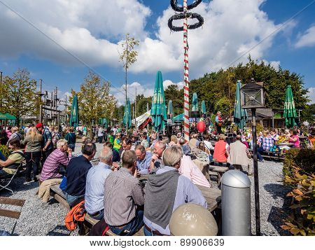 Dusseldorf, Germany - September 14; 2014: Crowd Of People During Alp National Holiday