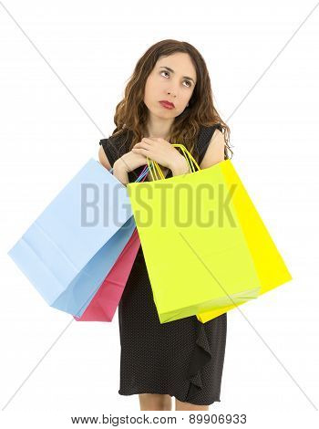 Exhausted Shopping Woman