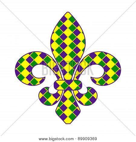 Fleur de lis Mardi Gras
