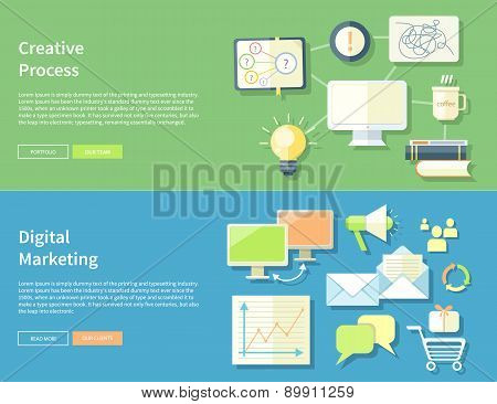 Creative Process and Digital Marketing Concept