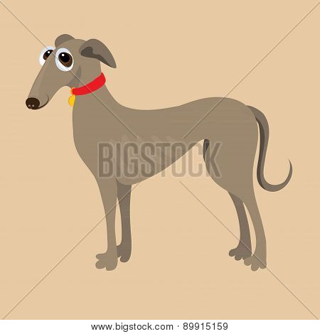 South Russian Hound. Vector illustration of a dog.
