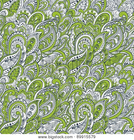 colorful paisley seamless pattern.