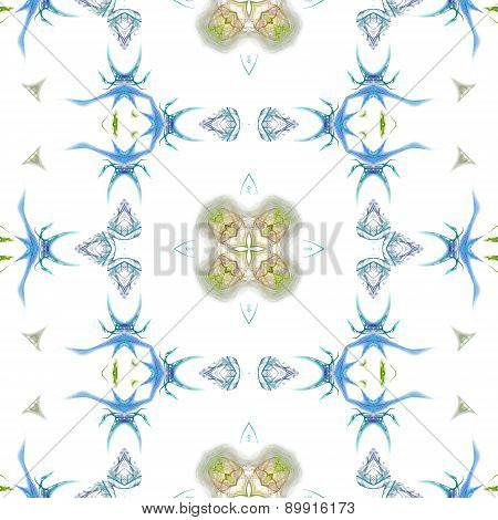 Seamless Kaleidoscope Texture Or Pattern In Blue And Green 4