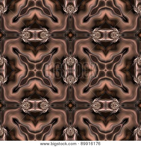 Seamless Kaleidoscope Texture Or Pattern In Brown Spectrum 1