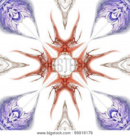 Seamless Kaleidoscope Texture Or Pattern On White Background 4
