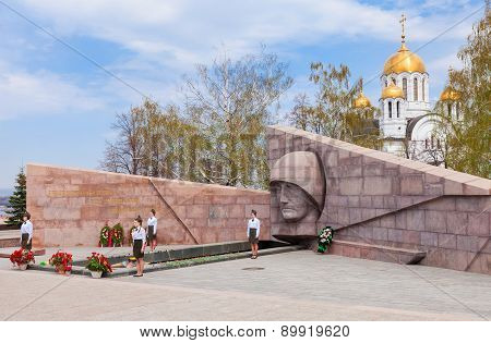 The Eternal Flame In The Memorial Complex In Samara, Russia