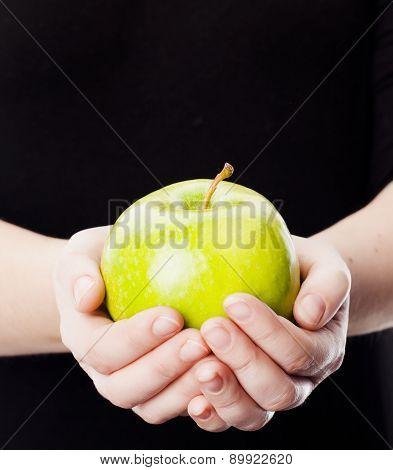 Holding Green Apple