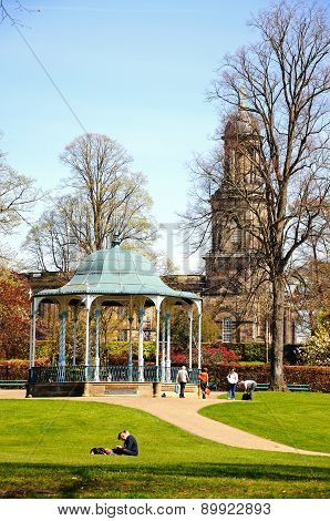 Church and Bandstand, Shrewsbury.