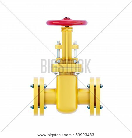 Gas Pipeline Element With The Valve