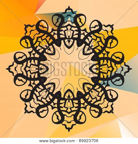 India mandala vector. Geometric circle element. Perfect  cards for any other kind of design, birthda