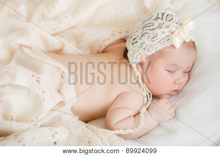 The little boy is sleeping