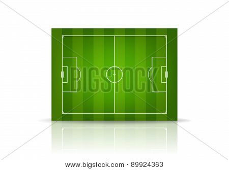 Vector Striped Soccer Field