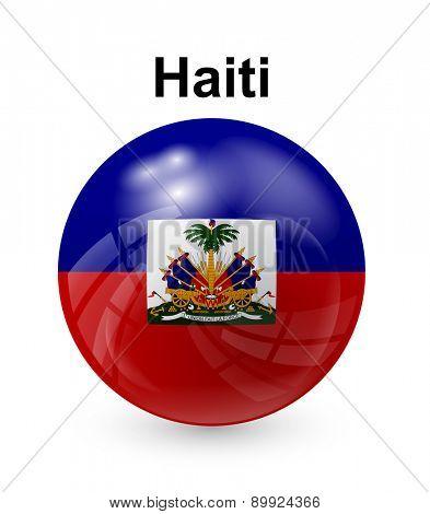 haiti official state button ball flag