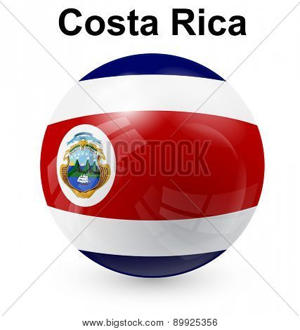 costa rica official flag, button ball
