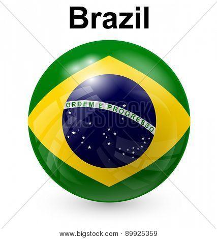 brazil official flag, button ball